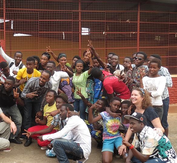 Photo of Rwandans posing for a photo