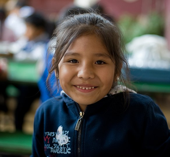 Photo of a Bolivian girl