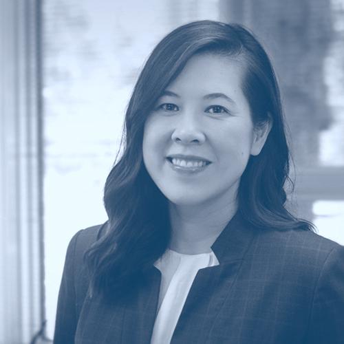 Photo of Jennifer Lau in duotone