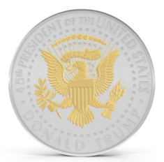 GOLD AND SILVER PLATED PRESIDENT TRUMP