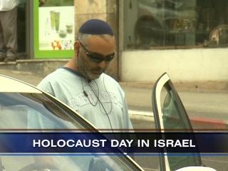 An Israeli Holocaust survivor on Yom HaShoah (AP image)