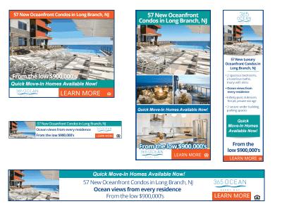 365 Ocean Digital Banner Ads