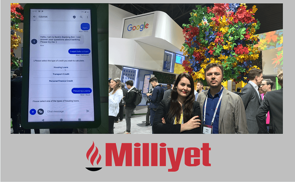 Cbot @ Google's Booth at Mobile World Congress'19