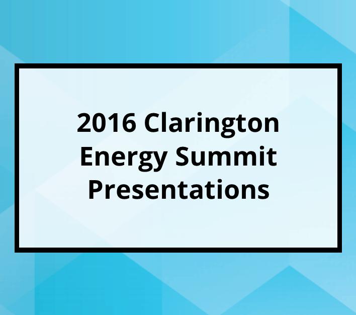 2016 Clarington Energy Summit