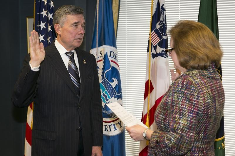 R. Gil Kerlikowske is sworn in as Commissioner of CBP