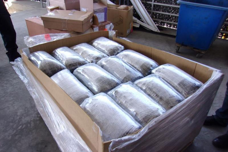 Officers offloaded the shipment and discovered 120 packages comingled with various medical supplies.