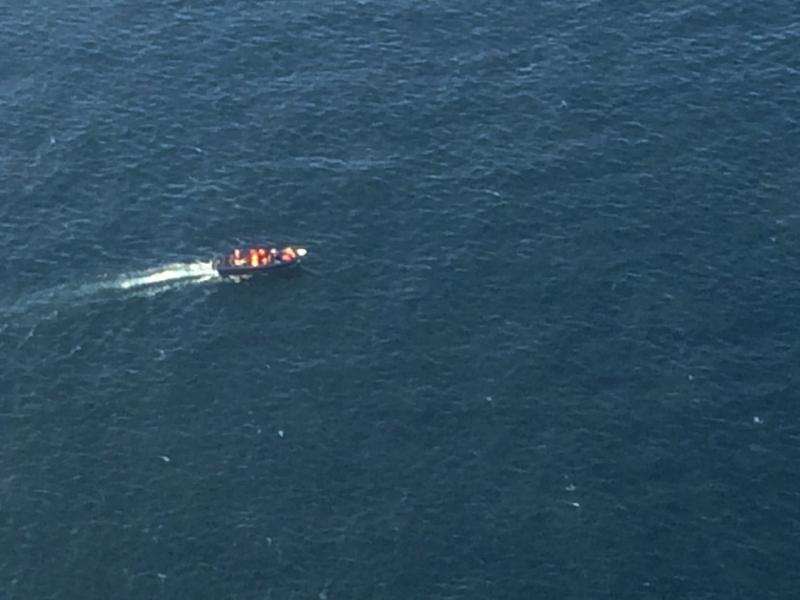 CBP's Office of Air and Marine responded by air and could not detect any identifying marks on the vessel.