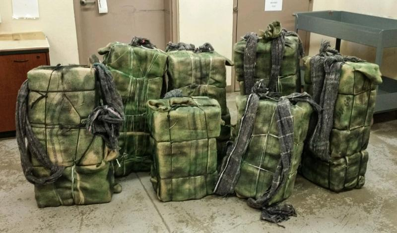 Douglas BP agents seized more than 563 pounds of marijuana that had been abandoned by smugglers