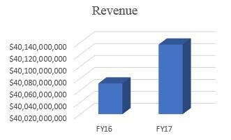 Chart comparing revenue collected by CBP in FY16 and FY17