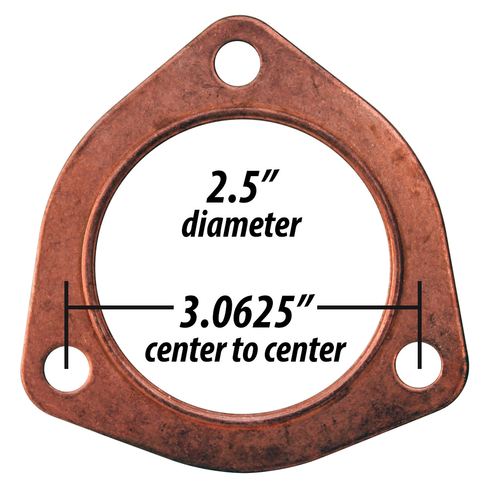 3641 copper exhaust gasket large 3 bolt flange