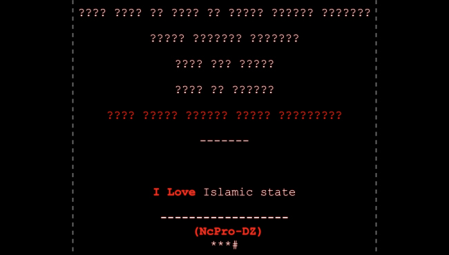 Hackers replace school websites with pro-Islamic State