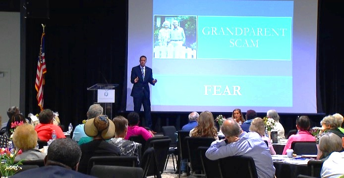 Wake Forest held a seminar to educate seniors about various scams.