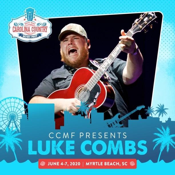 Carolina Music Festival 2020 Luke Combs announced as first performer for 2020 Carolina Country
