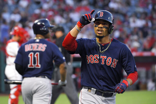 Betts Home Run In 15th Gives Red Sox 7 6 Win Over Angels