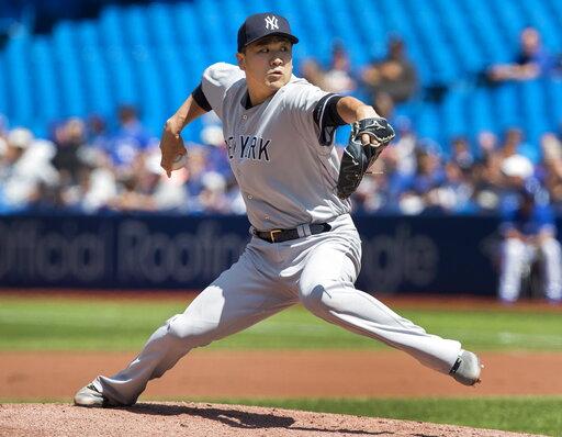 Tanaka deals, Chapman gets Guerrero as Yanks top Jays 1-0 – CBS 17 com