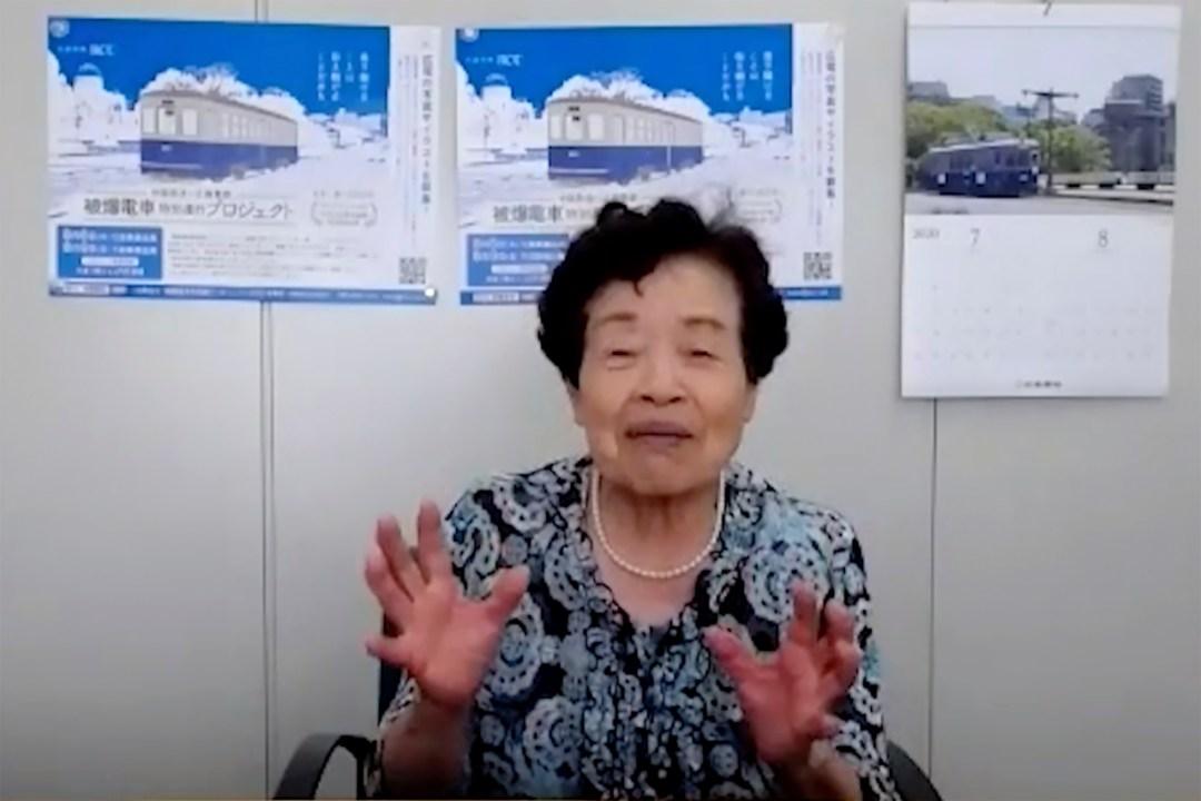 Hiroshima survivor recalls working on tram after A-bomb ...