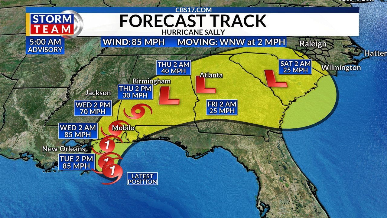Hurricane Sally expected to bring 'historic flooding' to ...Hurricane Sally Track