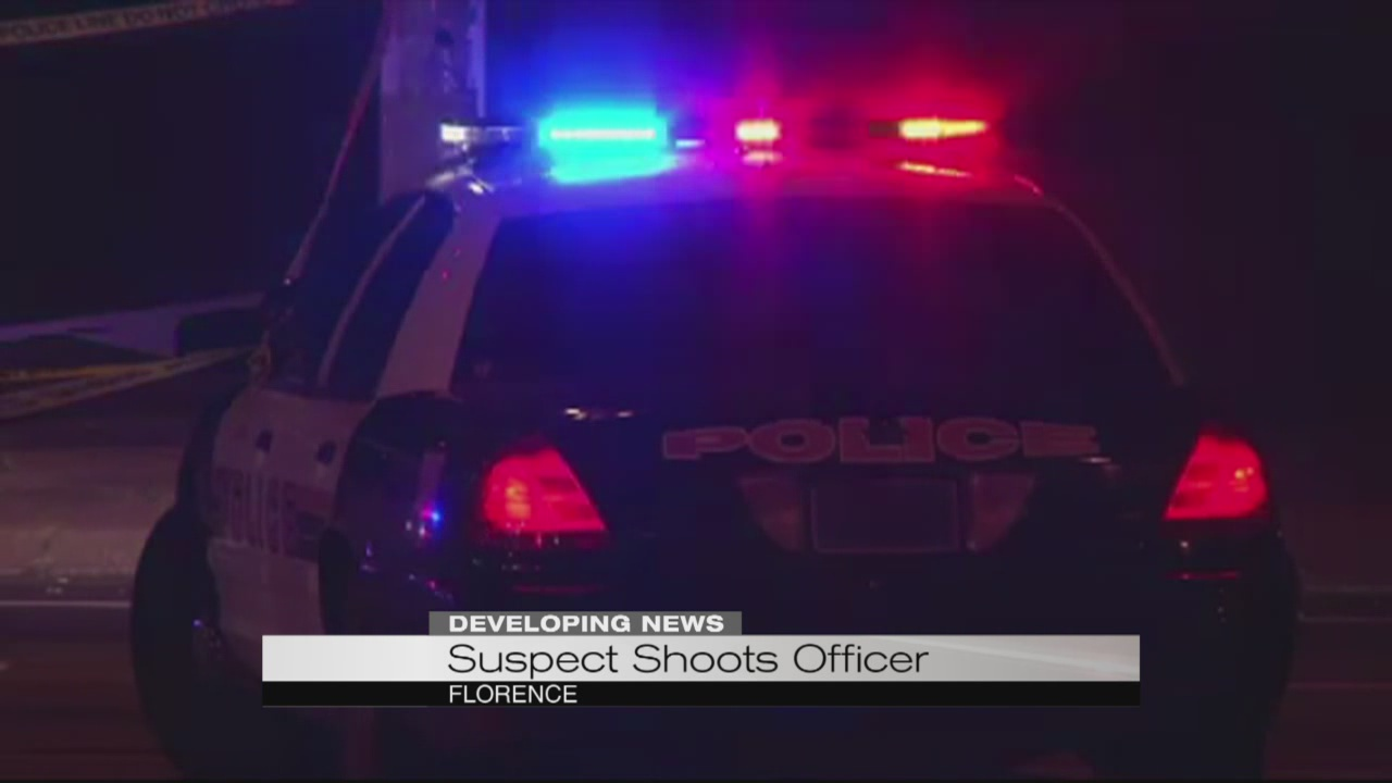 Suspect shoots officer in Florence