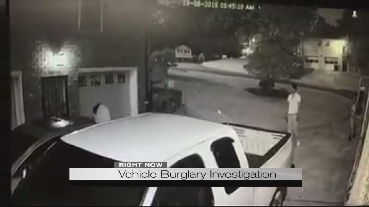 Vehicle burglary investigation_189500