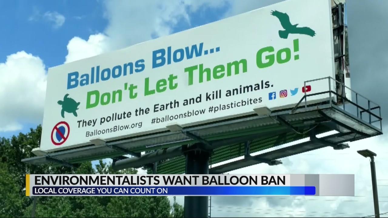 Environmentalists want balloon bans