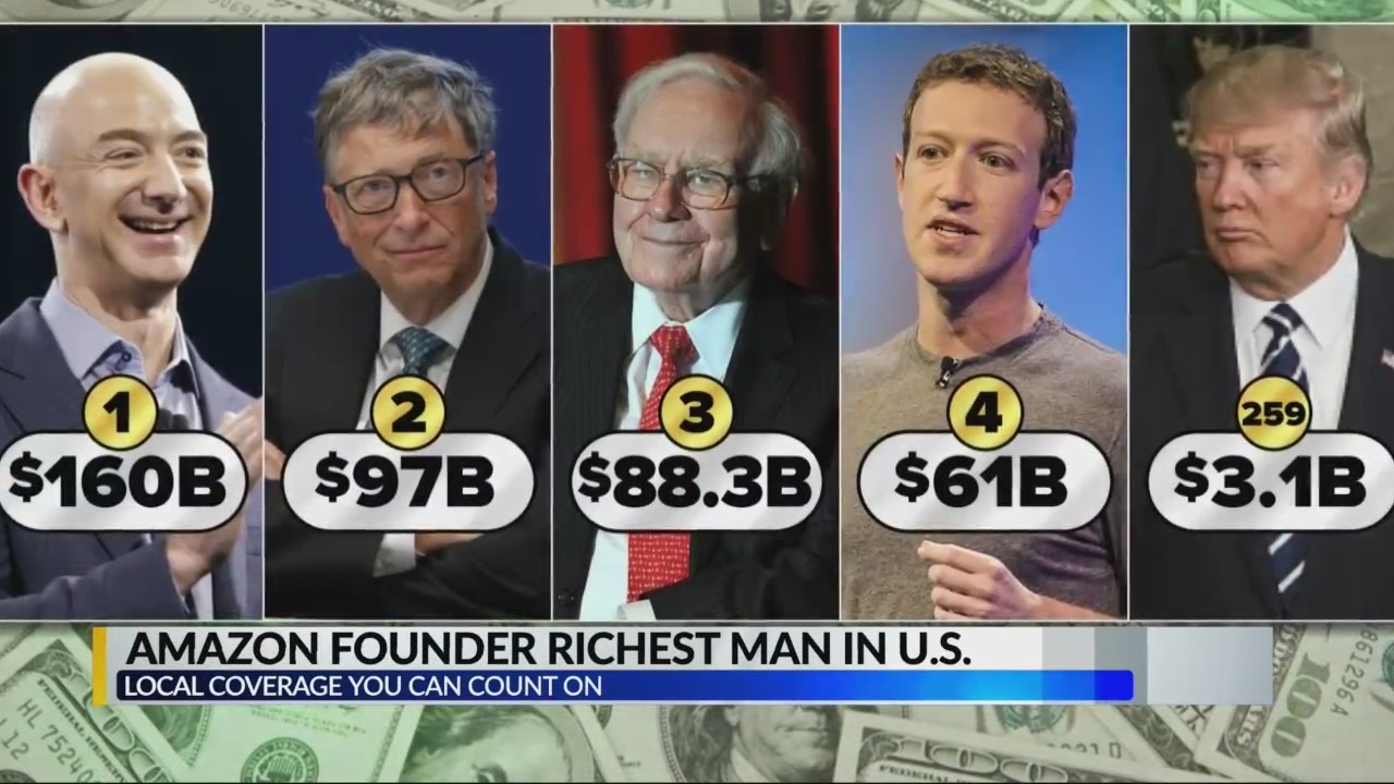 Amazon founder richest man in USA