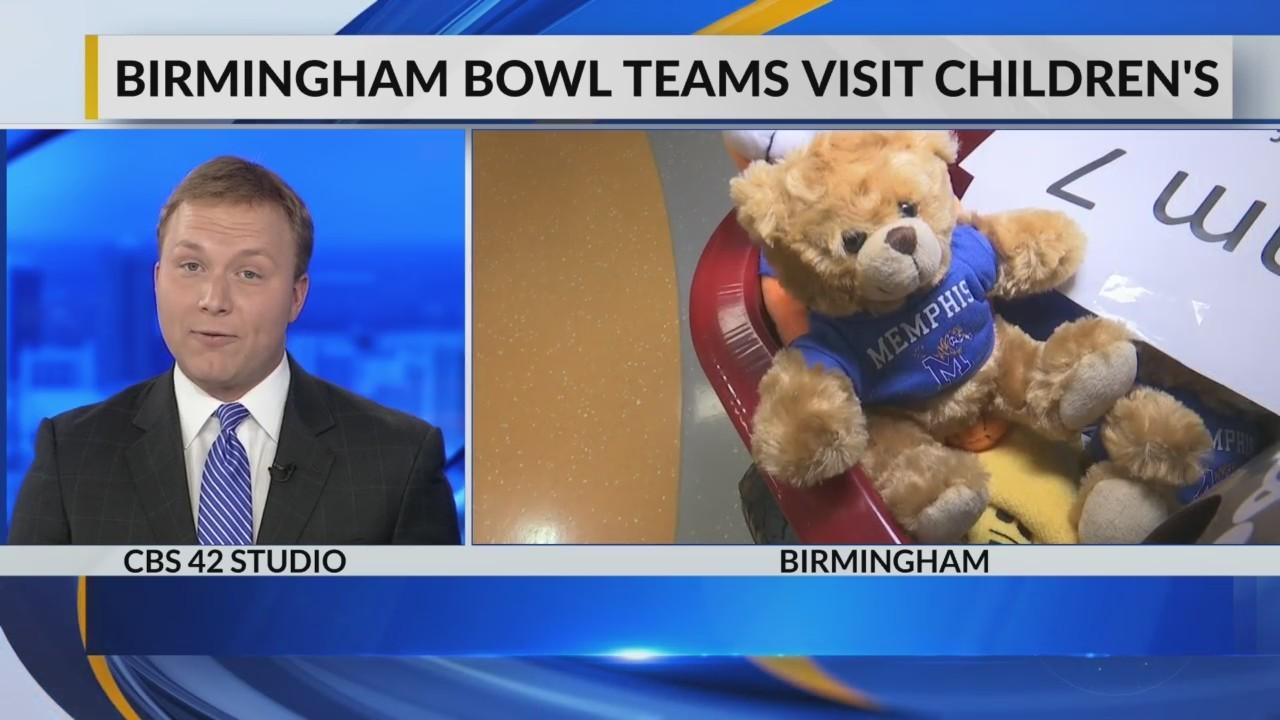 Birmingham bowl teams visit Children's