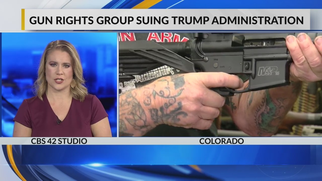 Gun rights group suing Trump Administration