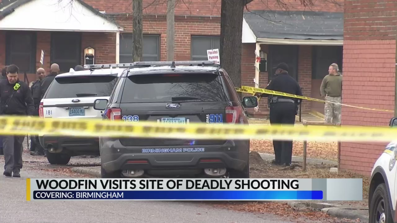 Woodfin Visits Site of Deadly Shooting