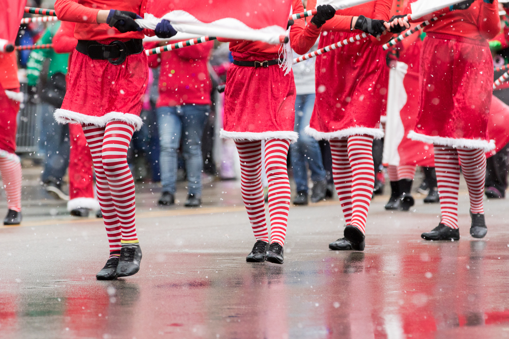 christmas parade_stock