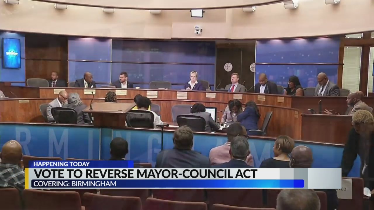 Birmingham councilors to vote on push to rewrite Mayor-Council Act