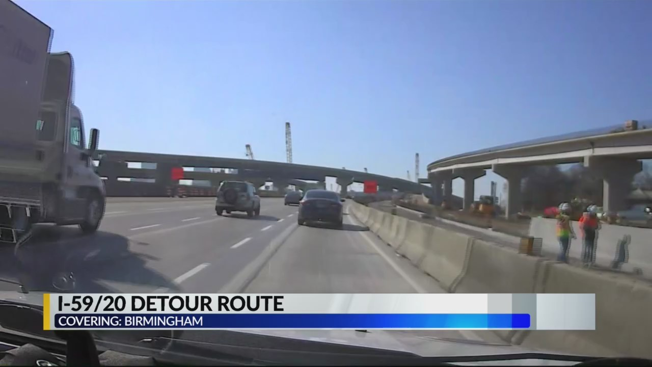Detour routes in place ahead of I59/20 bridge closure