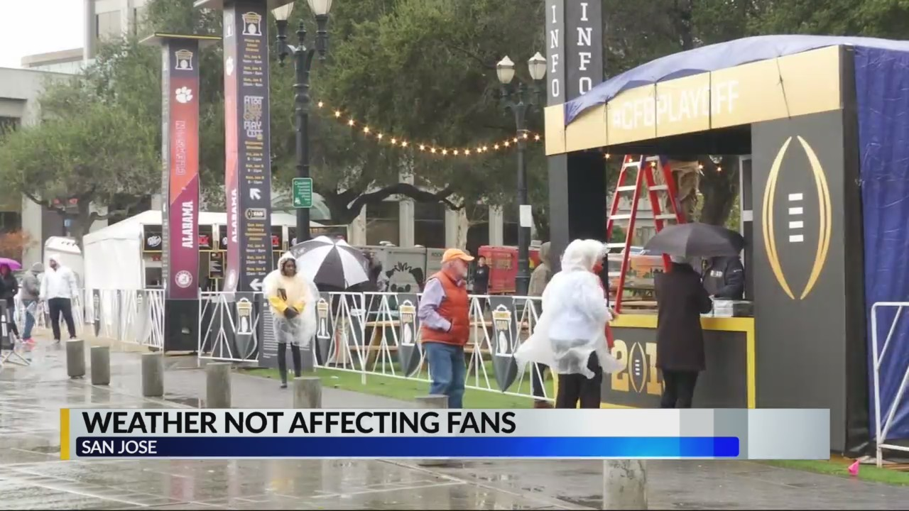 Weather not affecting fans in San Jose, Calif.