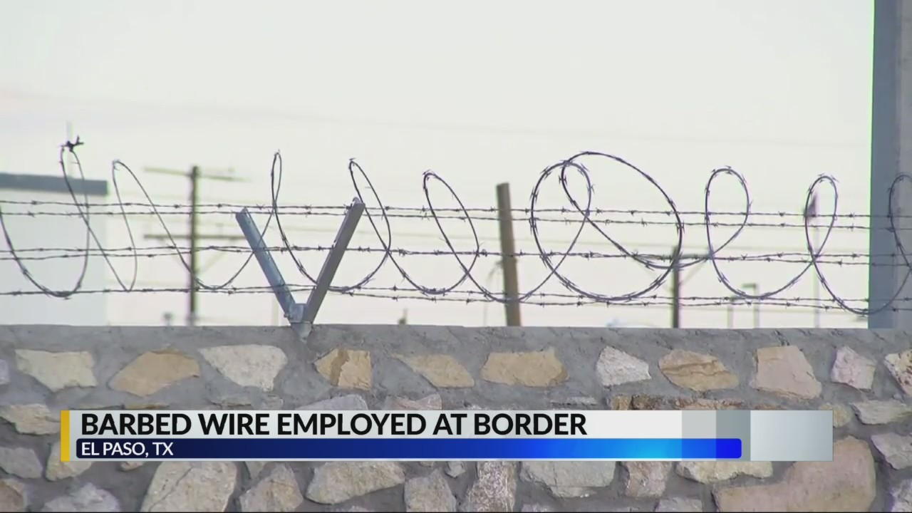 Barbed wire at the border