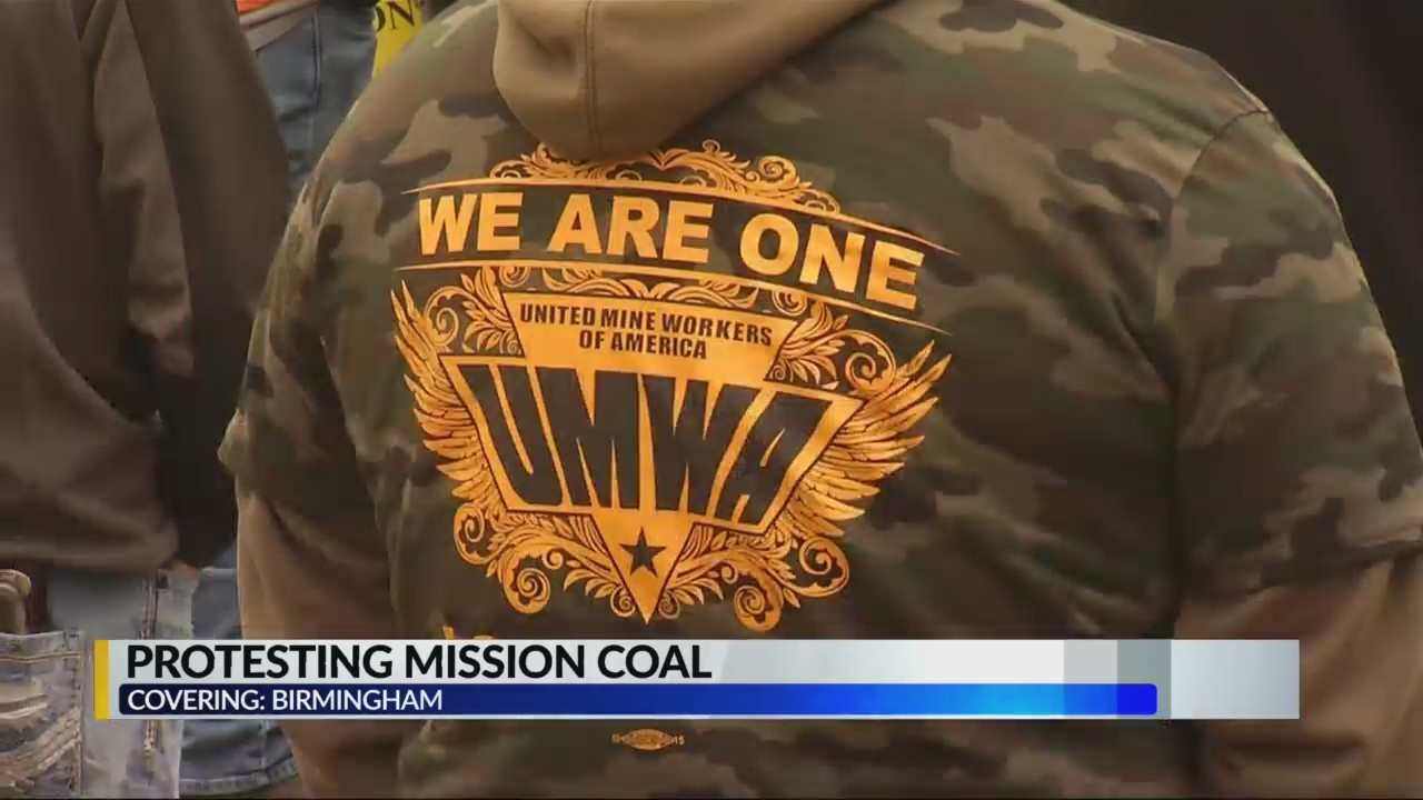 United Miners protesting Mission Coal