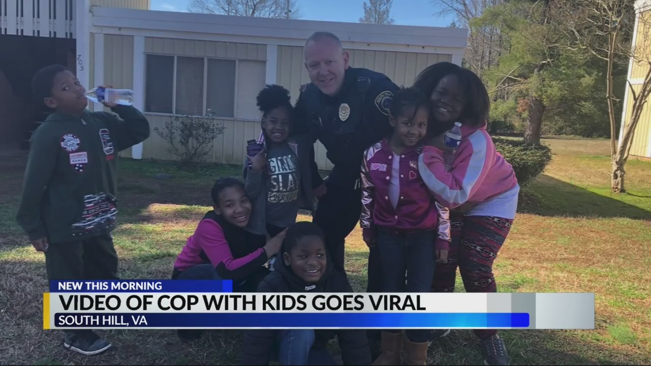 Video of Cop with kids goes viral