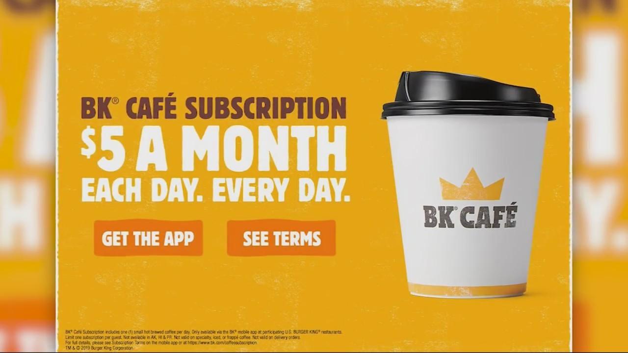 BK Cafe subscription service