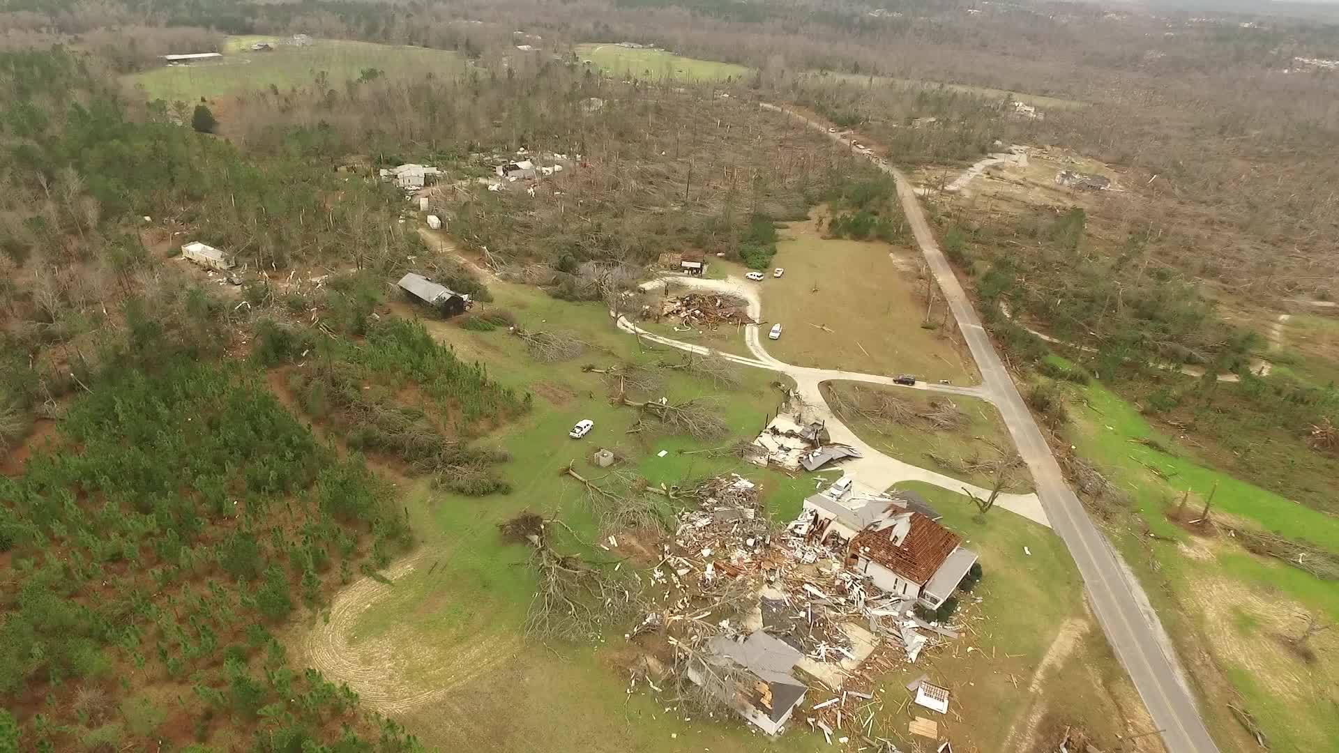 AIR 42: Storm damage in Lee County