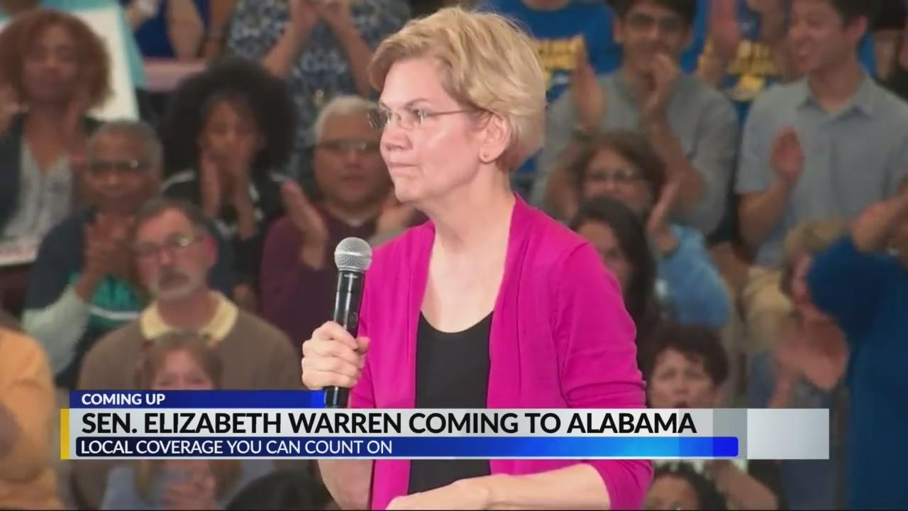 Sen. Elizabeth Warren coming to Alabama