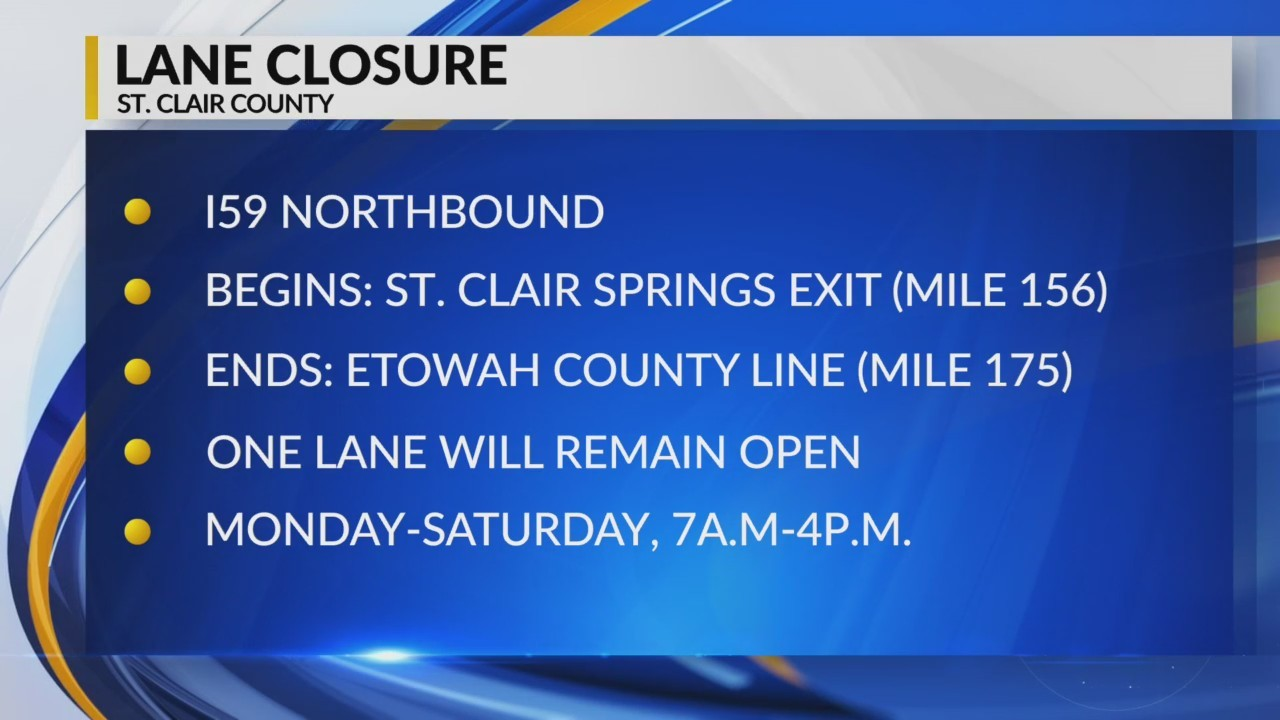 St. Clair County Road Closure