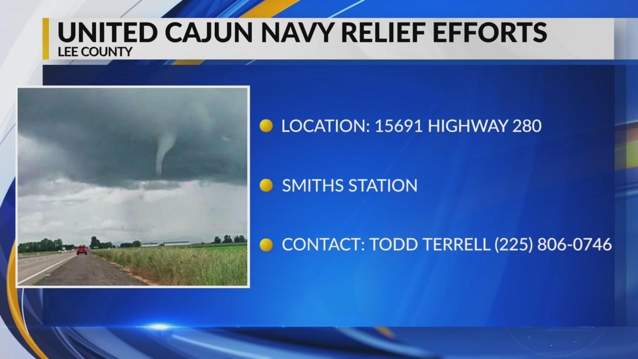 United Cajun Navy relief efforts in Lee County