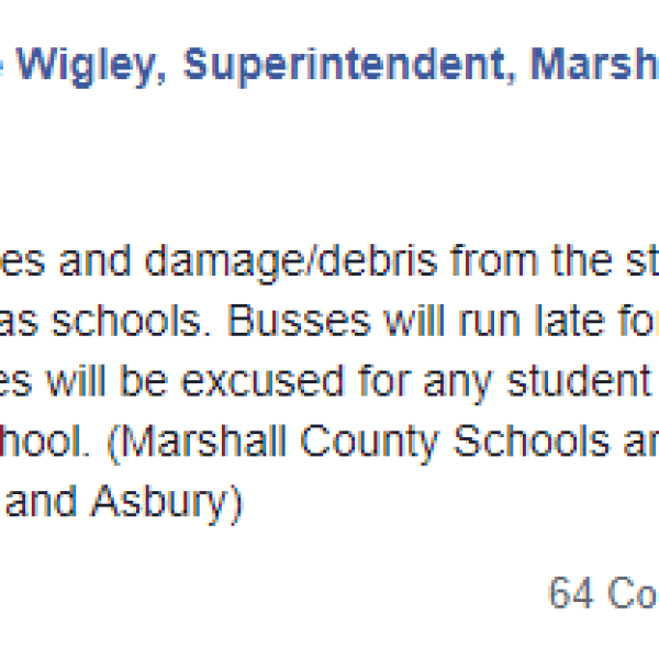 Marshall County Schools closed Monday severe weather_1554731956039.PNG.jpg