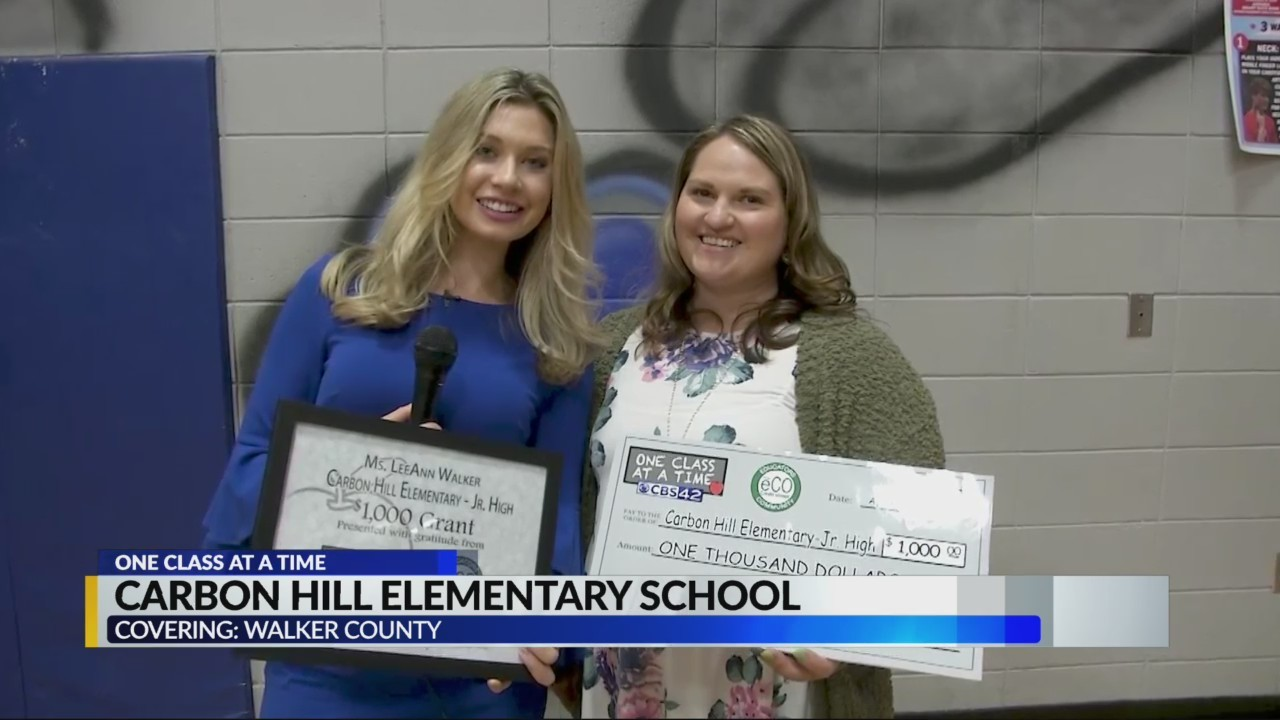 One Class at a Time: Carbon Hill Elementary School