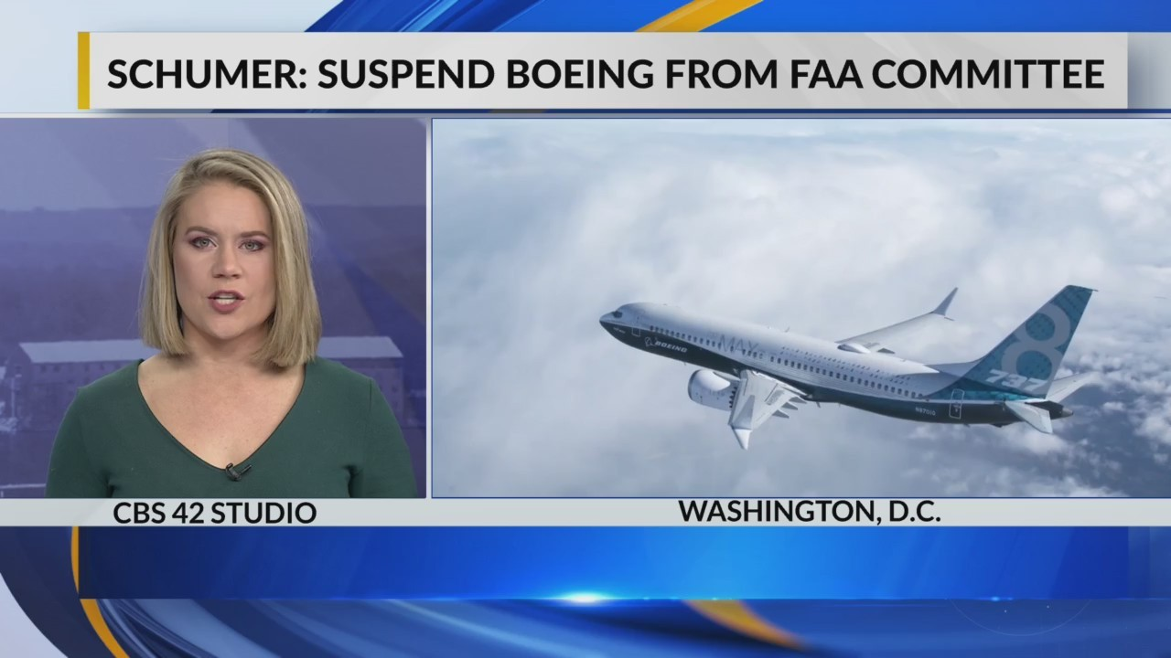 Schumer: suspend Boeing from FAA committee