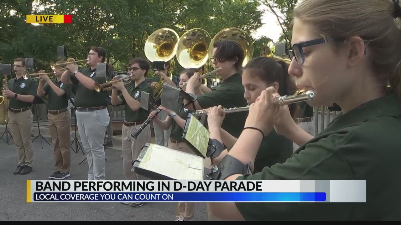 Mountain Brook Band performs for CBS 42 ahead of D-Day Parade