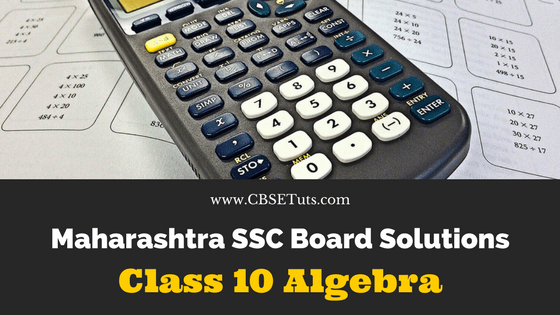 Maharashtra Board SSC Class 10 Solutions for Algebra