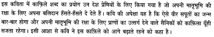 Chapter Wise Important Questions CBSE Class 10 Hindi B - कर चले हम फ़िदा 45