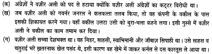 Chapter Wise Important Questions CBSE Class 10 Hindi B - कारतूस 40