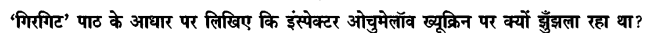 Chapter Wise Important Questions CBSE Class 10 Hindi B - गिरगिट 10