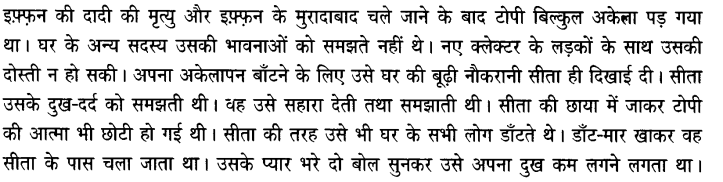 Chapter Wise Important Questions CBSE Class 10 Hindi B - टोपी शुक्ला 23
