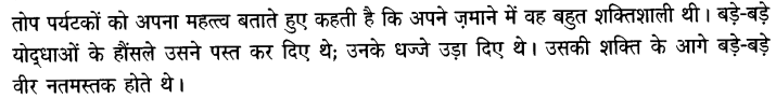 Chapter Wise Important Questions CBSE Class 10 Hindi B - तोप 12